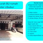 Dijual rumah cluster sejadinya & BU