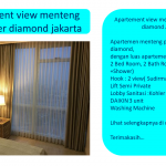 Apartement view menteng park tower diamond jakarta