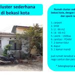 Rumah cluster sederhana dijual di bekasi kota